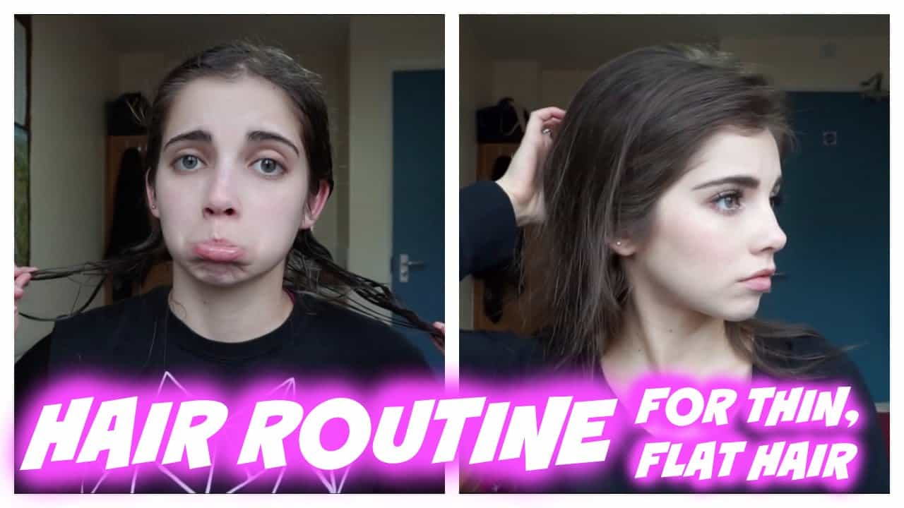 styling flat hair the hair care routine for and with thin hair 5105