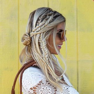 The Waterfall Braid Look With Curly Hair This