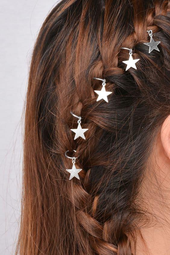 Hair rings with braids
