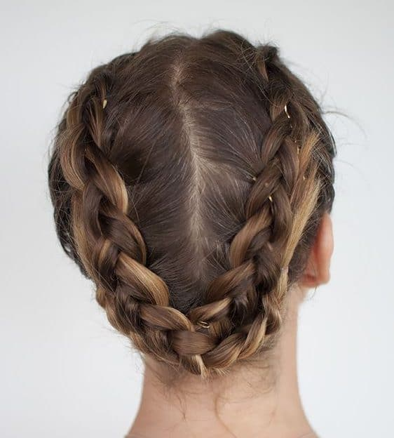 workout hairstyles braids crown