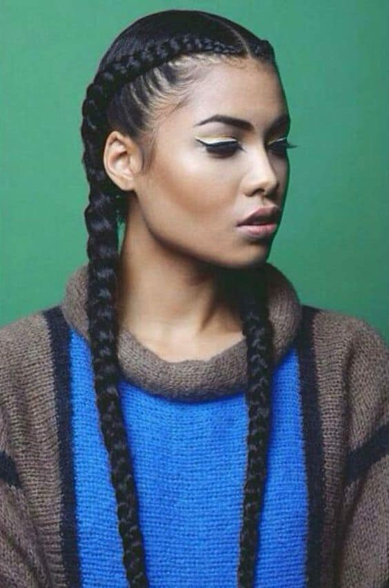 workout hairstyles french braids with pigtails