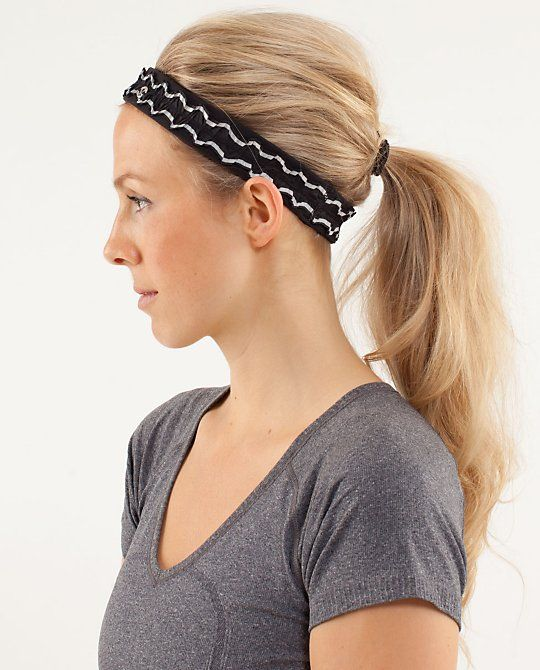 workout hairstyles hairband