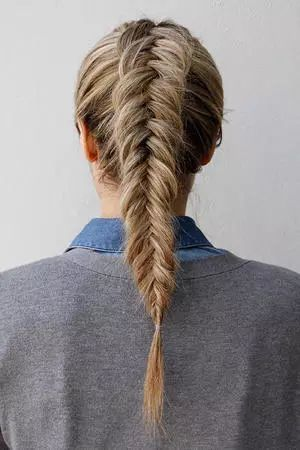workout hairstyles tight fish braid